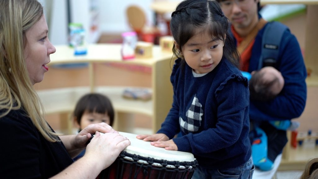 Kid Learning music at Endeavour Early Education - EEE