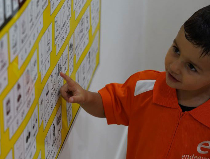 Kid Learning at Endeavour Early Education - EEE
