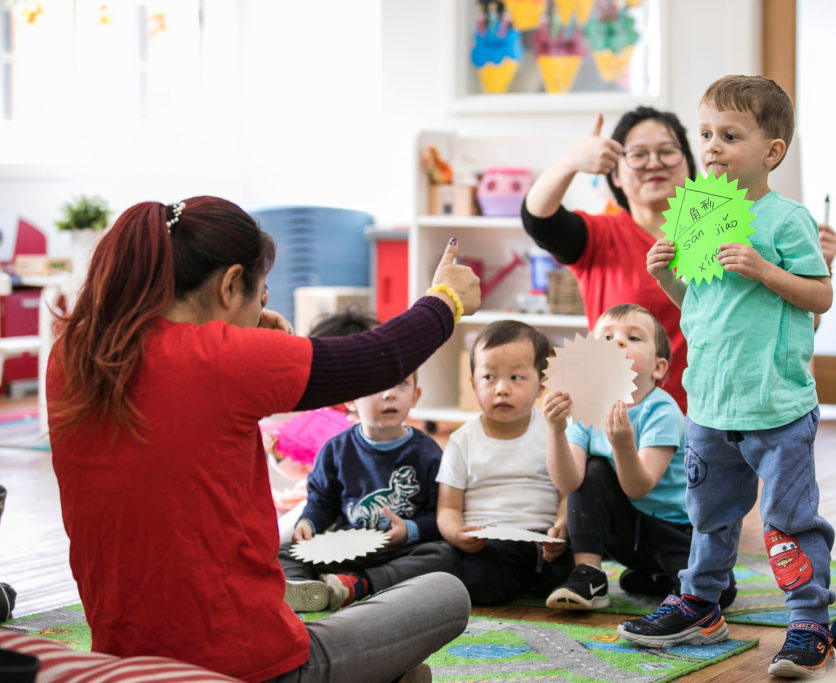 Kids learning new languare at Endeavour Early Education - EEE